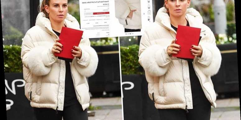 Coleen Rooney slammed by animal lovers for wearing a £1,400 real fur coat with cuffs made from foxes