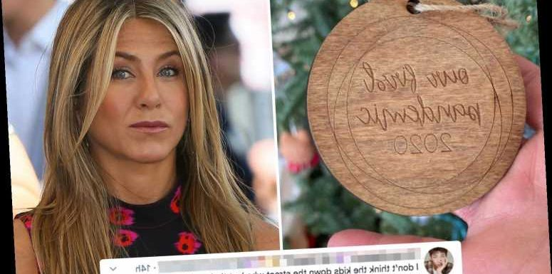 Jennifer Aniston slammed as 'ignorant' after star shows off 'our first pandemic' Christmas ornament