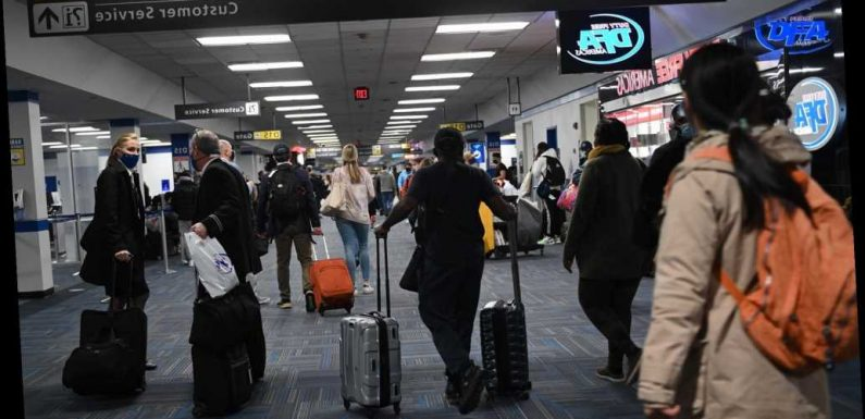 Nearly 1.3 million traveled through US airports Sunday
