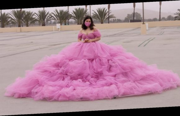 You Want Fashion During the Pandemic? This TikTok User's 12-Foot Social-Distancing Dress Is the Answer