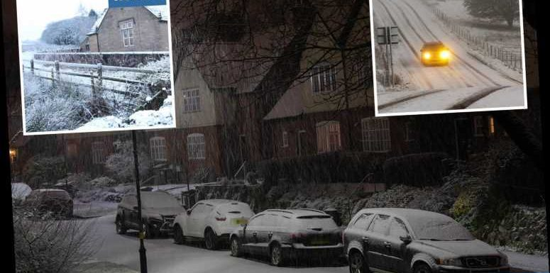 UK weather – Britain blanketed with snow as temperatures plunge to -3C and Met Office issues weather warning