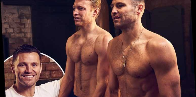 Mark Wright goes topless for gym snap as he launches new fitness app with his brother Josh
