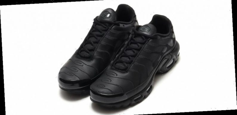 """Nike's Air Max Plus Receives Bold Leather """"Triple Black"""" Colorway"""