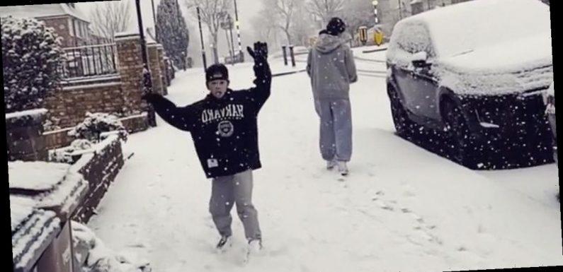 Kate Garraway enjoys family time in snow amid heartbreaking Derek update