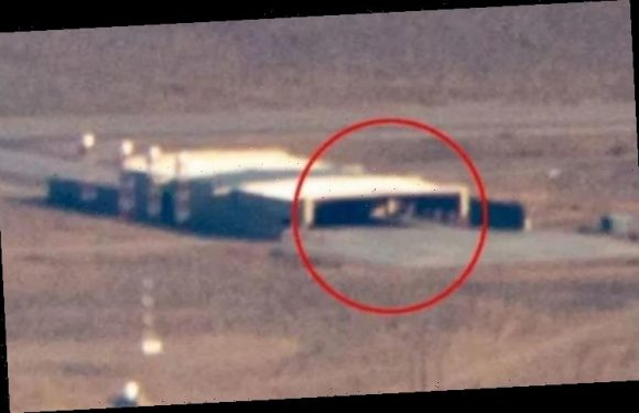Area 51 images show strange structure inside an open hangar