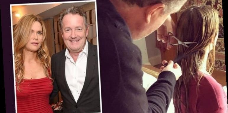 Piers Morgan's wife calls for 'help' as she worries about GMB host's DIY haircut