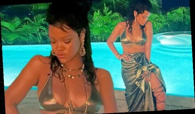 Rihanna dons shimmering bikini while celebrating New Year's Eve