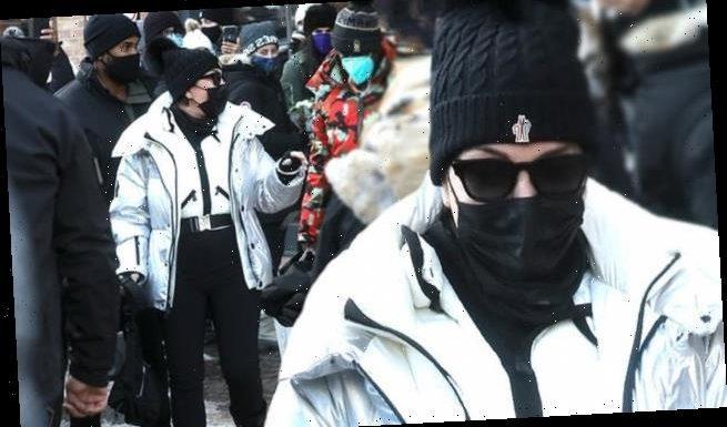 Kris Jenner gets swarmed by fans as she bundles up at Prada in Aspen
