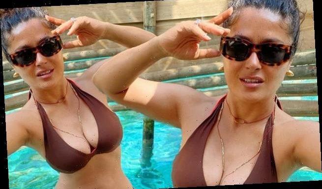 Salma Hayek, 54, looks INCREDIBLE in skimpy bikini during beach break