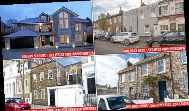 Properties across UK increased in value by more than £10,000 last year