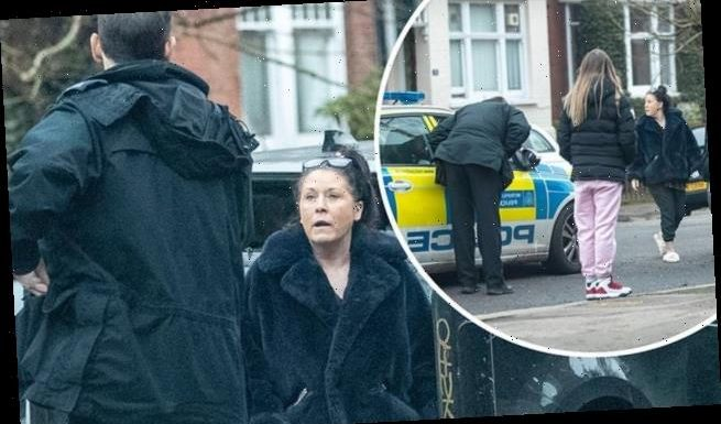 EastEnders' Jessie Wallace appears strained as she speaks to police
