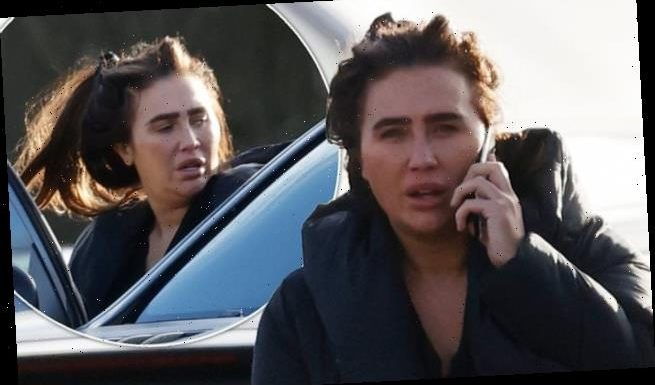 Lauren Goodger engages in tense call after being branded a 'half wit'