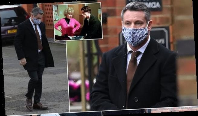 Dean Gaffney pays his respect to Barbara Windsor outside her funeral