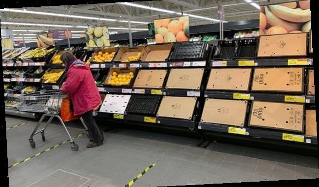 Supermarket shelves hit by Brexit port chaos run low on fruit and veg