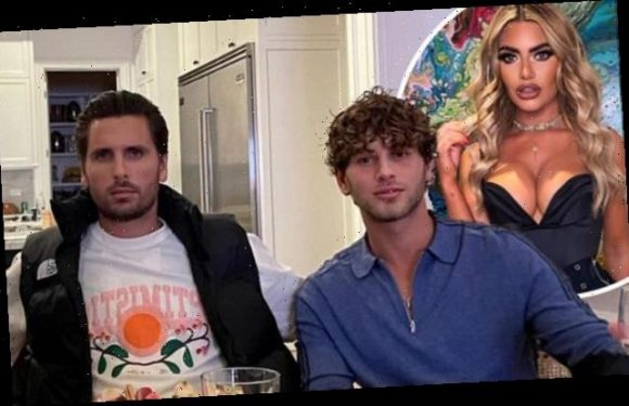 Scott Disick is joined by Eyal Booker for dinner with pals