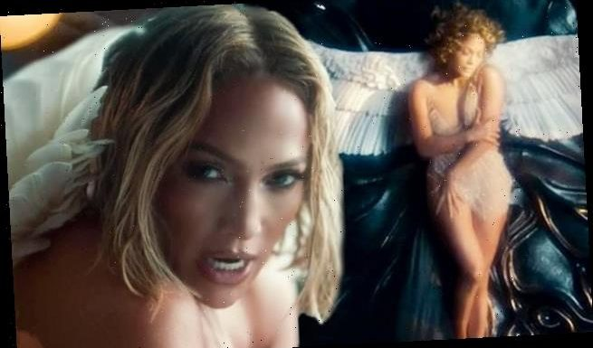 Jennifer Lopez dances NAKED in a forest with angel wings for new video