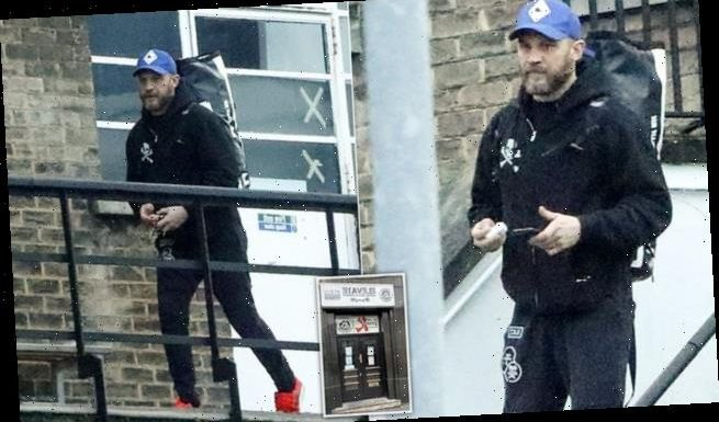 Tom Hardy leaves a London gym after visit was 'for work'