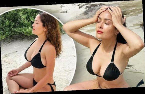 Salma Hayek, 54, continues to flaunt her bikini body