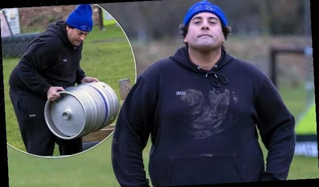 James Argent is put through his paces on a gruelling assault course