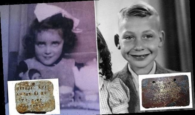 Tags of children murdered during the Holocaust are found at Nazi camp