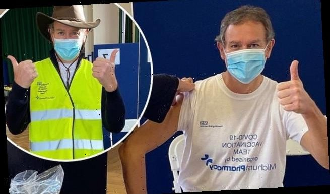 Hugh Bonneville has Covid vaccine and is volunteering at jab centre