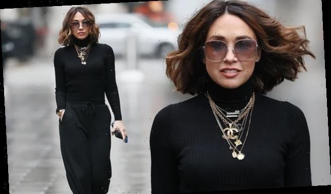 Myleene Klass looks chic following Dancing on Ice elimination