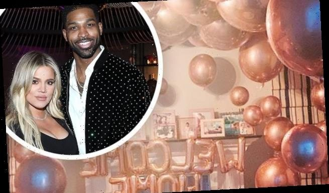 Khloe Kardashian comes home to surprise from partner Tristan Thompson