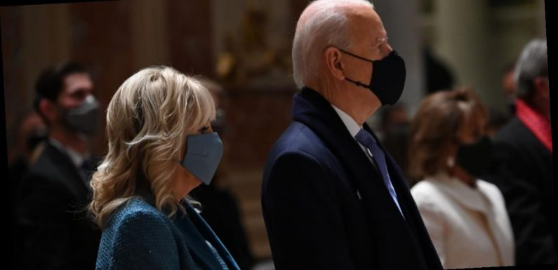 """Dr. Jill Biden's Blue Inauguration Outfit Signifies """"Trust, Confidence, and Stability"""""""