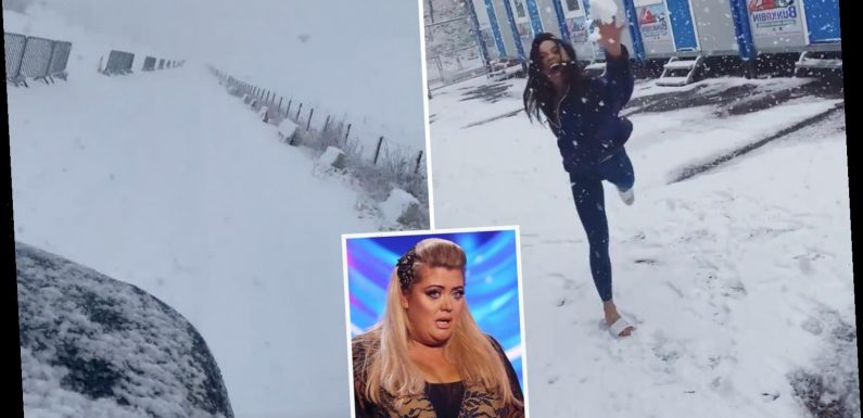 Dancing On Ice studio hit by snow blizzard amid fears Gemma Collins will be stranded