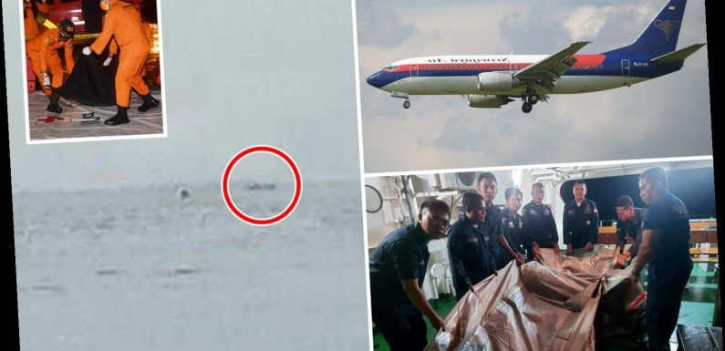 Wreckage and 'suspected body parts' found after Boeing 737 carrying 62 crashes in sea when it 'fell 10,000ft'