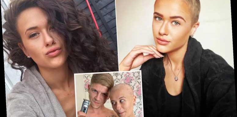 Mum reveals 'heartbreaking' moment her boyfriend shaved her head – after losing job due to Covid made her hair fall out