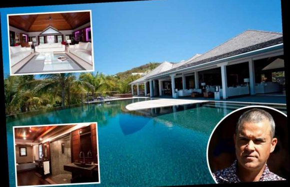 Inside Robbie Williams' £15k a night St Barts villa where he's quarantining after testing positive for coronavirus
