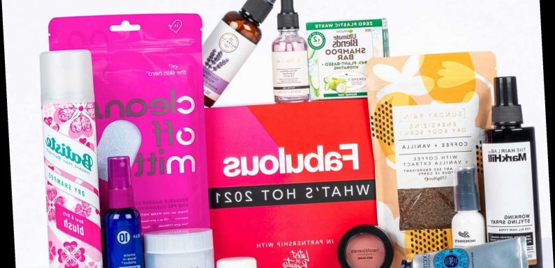 Get £128 worth of this year's hottest beauty must-haves for just £32 in Fabulous' What's Hot 2021 box