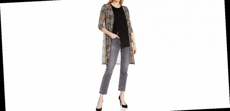This Open Mesh Cardigan Proves How Versatile Leopard Print Can Be