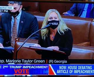Trump Impeachment a War of Words and Masks
