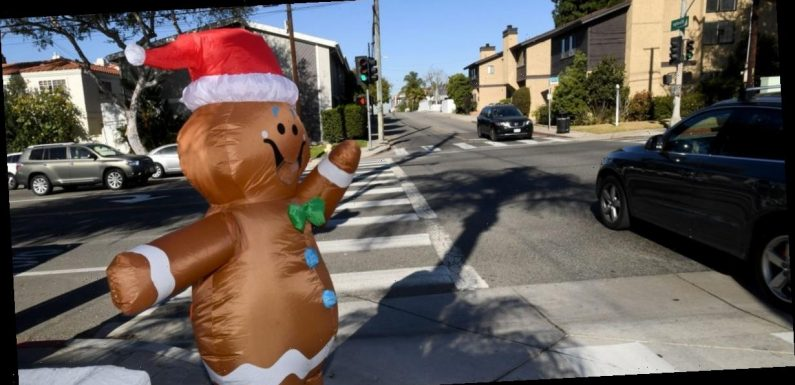 An inflatable Christmas costume may have spread coronavirus particles at a California hospital, potentially infecting 43 employees
