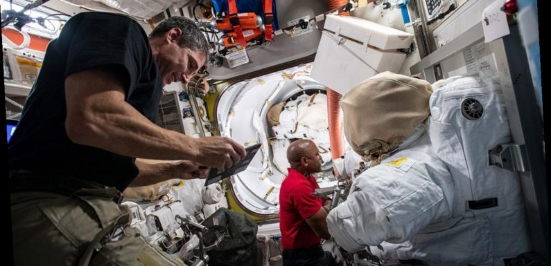 NASA astronauts conduct first spacewalk of 2021