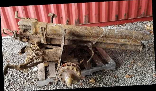 WWI cannon found 4,000 miles away from where it was last fired