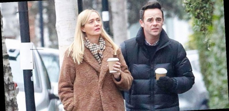 Ant McPartlin and fiancée Anne-Marie Corbett twin in matching boots on walk after he shares proposal details