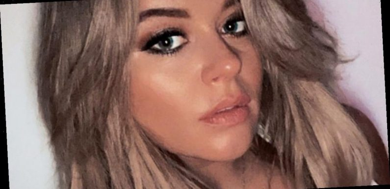 Emily Atack flashes killer legs in sheer stockings as she wows in bottomless pic