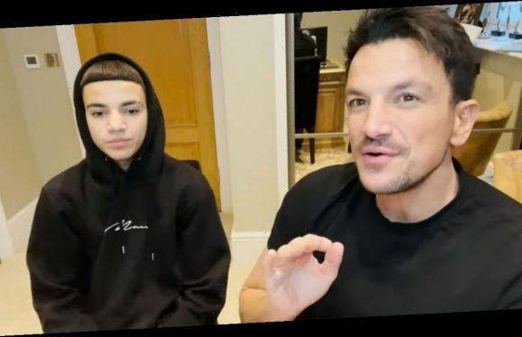 Peter Andre speaking Greek to son Junior as teen starts to learn language