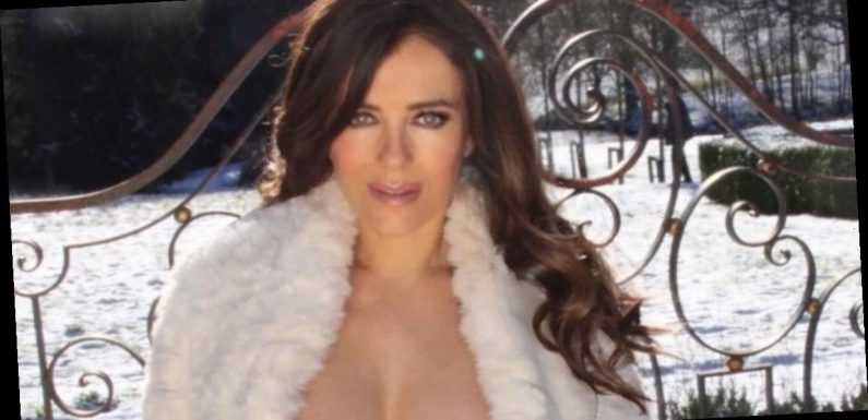 Liz Hurley flaunts killer figure as top slips off shoulder in bottomless snap