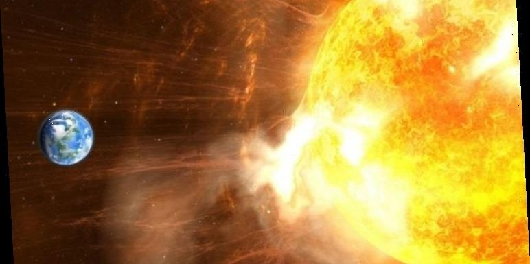 Solar flare releases 600 kilometre per second particles which could affect satellites