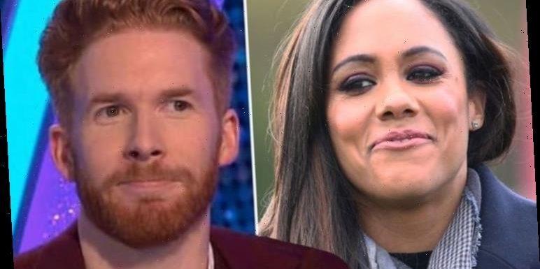 Alex Scott left blushing over Neil Jones' 'beautiful' compliment: 'Stop it you'