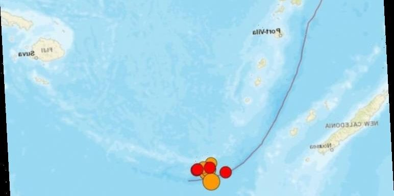 Ring of Fire MAPPED: 10 earthquakes strike Pacific Ocean – tsunami warning in place