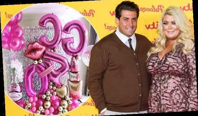 Gemma Collins gets HUGE balloon display James Argent on 40th birthday