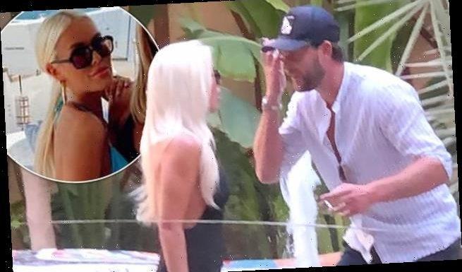 Lottie Tomlinson has a heated exchange in Dubai with Lewis Burton