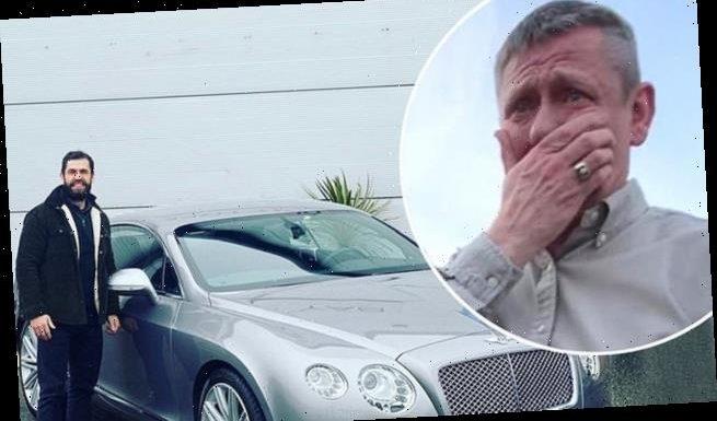 Kelvin Fletcher gifts tearful dad £160k Bentley for his 60th birthday