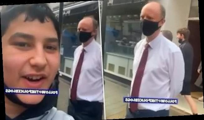 Appalling moment youth abuses Professor Chris Whitty in the street