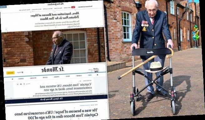 Newspapers from around the globe pay tribute to Captain Sir Tom Moore